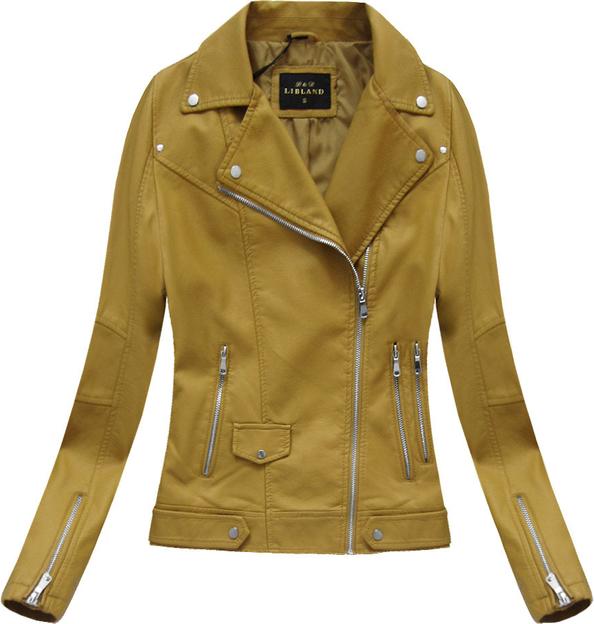 Brązowa kurtka libland w rockowym stylu