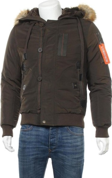 Brązowa kurtka Poolman krótka w stylu casual