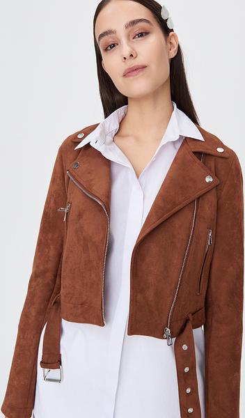 Brązowa kurtka Sinsay w stylu casual