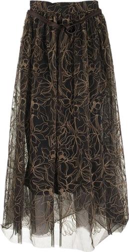 Brązowa spódnica Brunello Cucinelli z tkaniny