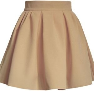 Brązowa spódnica Kozacki Mops mini z tkaniny