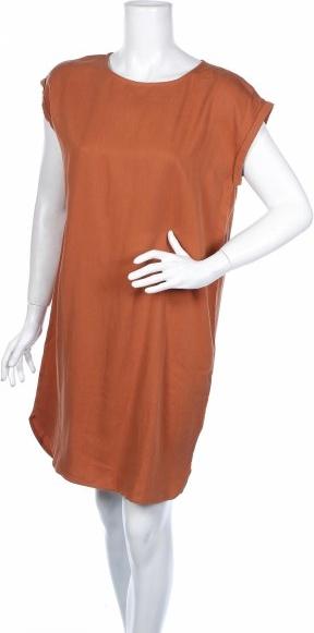 Brązowa sukienka ARMEDANGELS mini z okrągłym dekoltem