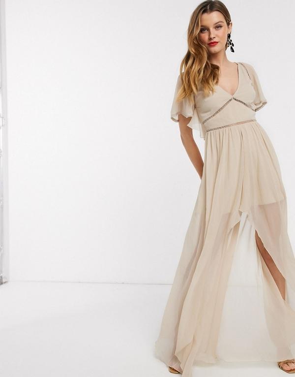 Brązowa sukienka Asos Design