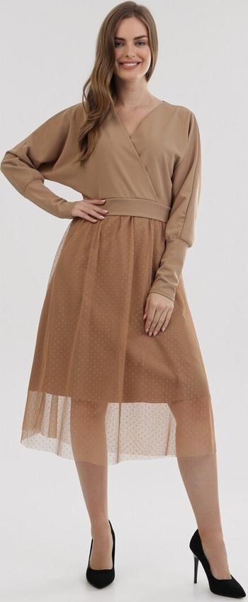 Brązowa sukienka born2be
