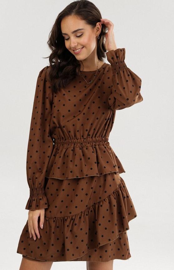 Brązowa sukienka born2be mini