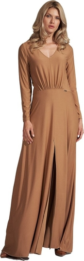 Brązowa sukienka Figl maxi