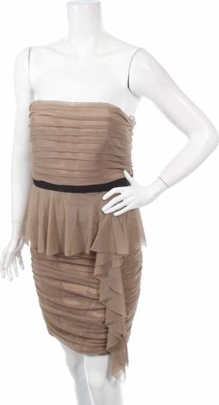 Brązowa sukienka Jessica Simpson bez rękawów