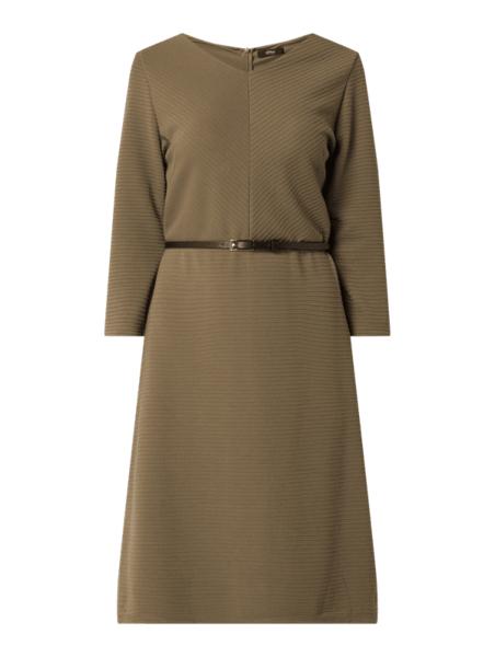 Brązowa sukienka S.Oliver Black Label mini w stylu casual z długim rękawem