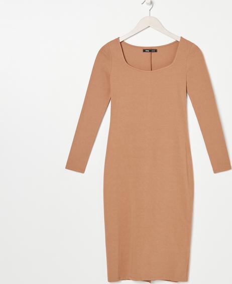 Brązowa sukienka Sinsay w stylu casual