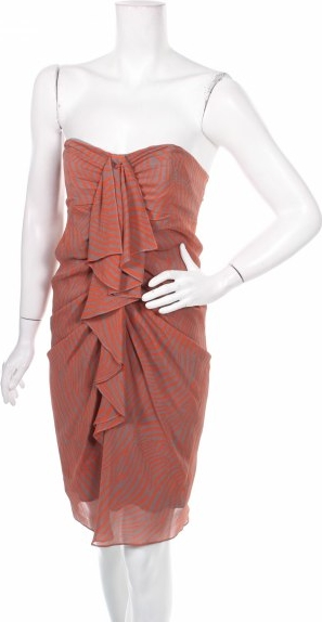 Brązowa sukienka Ted Baker bez rękawów gorsetowa