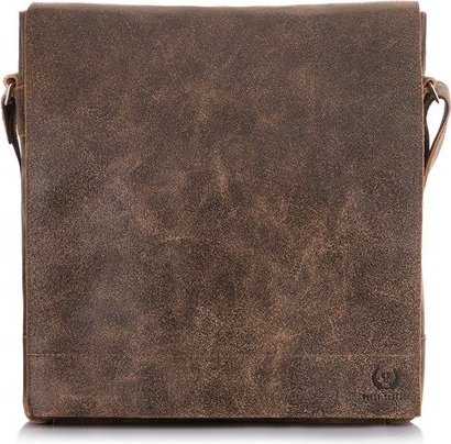 Brązowa torba Paolo Peruzzi ze skóry