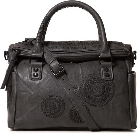 Brązowa torebka Desigual w stylu glamour średnia matowa