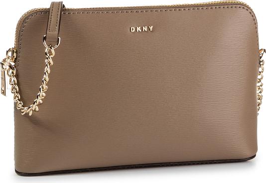Brązowa torebka DKNY matowa