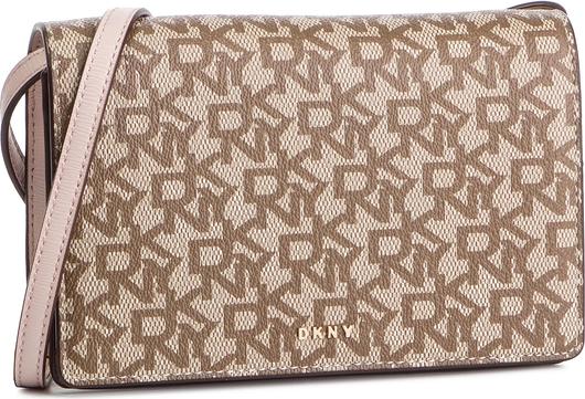 Brązowa torebka DKNY w stylu casual na ramię