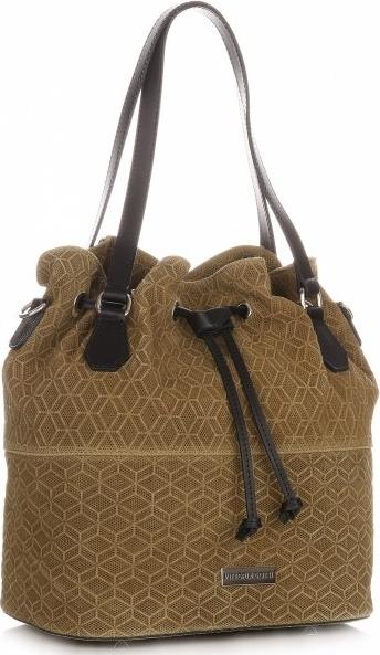 Brązowa torebka VITTORIA GOTTI w wakacyjnym stylu średnia na ramię