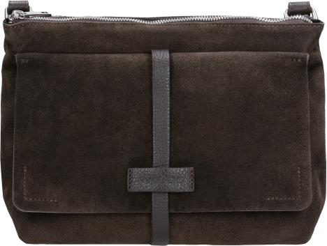 Brązowa torebka Wojas ze skóry średnia na ramię