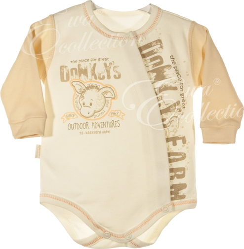 Brązowe body niemowlęce Ewa Collection dla chłopców