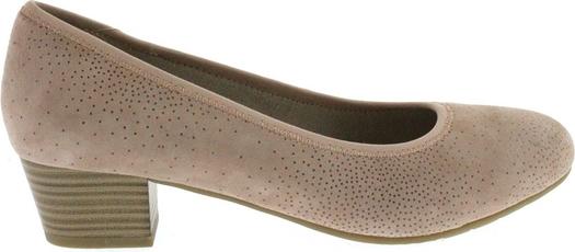 c31bdadd2f984 Brązowe buty Jana na niskim obcasie na obcasie z okrągłym noskiem