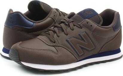 Brązowe buty sportowe New Balance w sportowym stylu sznurowane