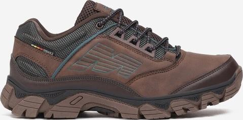 Brązowe buty trekkingowe born2be sznurowane