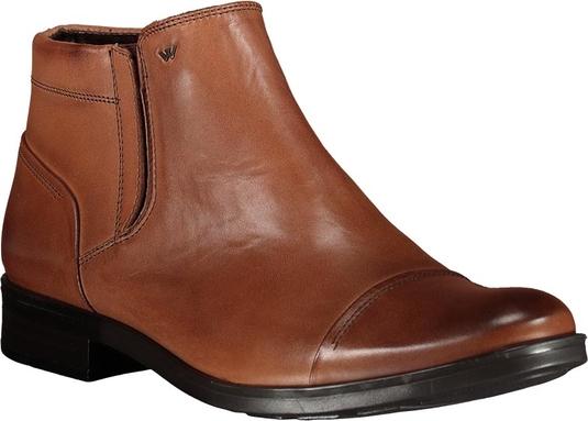 Brązowe buty zimowe Lavard na zamek