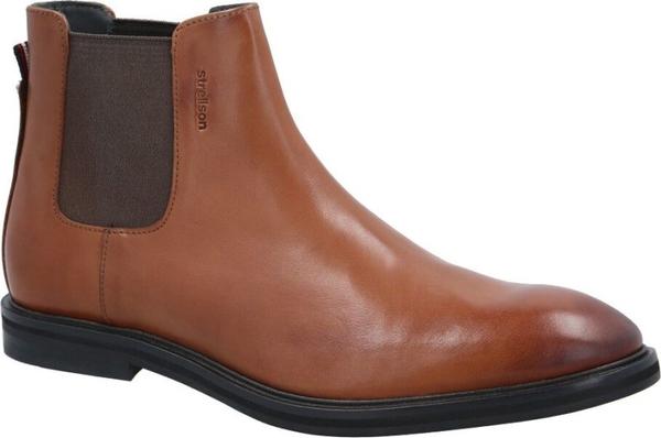 Brązowe buty zimowe Strellson ze skóry