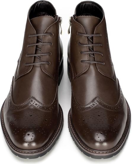 Brązowe buty zimowe Wittchen ze skóry