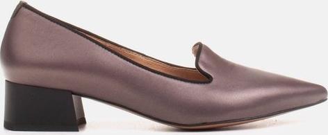 Brązowe czółenka Marco Shoes na niskim obcasie