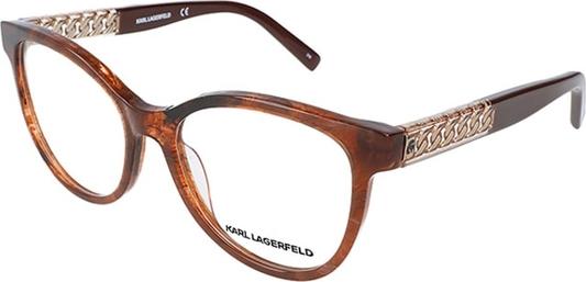 Brązowe okulary damskie Karl Lagerfeld