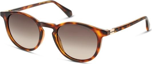 Brązowe okulary damskie Polaroid