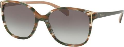 nowy Brązowe okulary damskie Prada Eyewear Akcesoria Damskie Okulary damskie VR KNEBVR-8