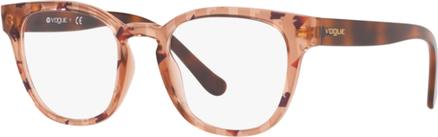 Brązowe okulary damskie Vogue w stylu glamour