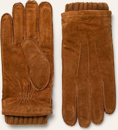 Brązowe rękawiczki Pepe Jeans