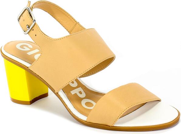 Brązowe sandały GIOSEPPO ze skóry