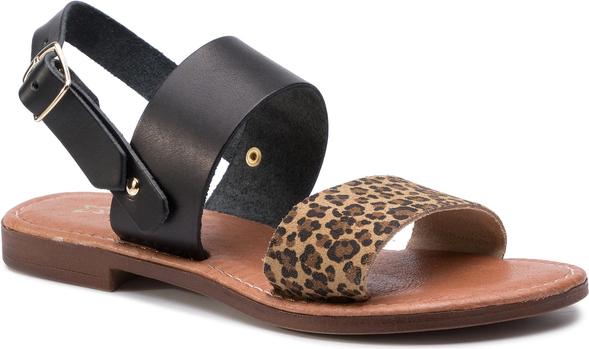 Brązowe sandały Maciejka w stylu casual z klamrami
