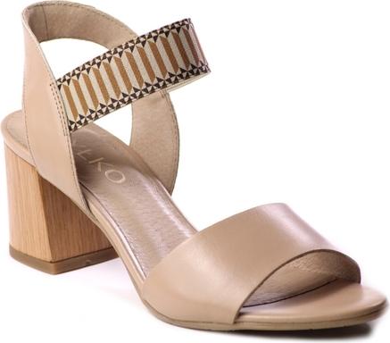 Sandały Ryłko ze skÓry na obcasie Buty Damskie Sandały OP