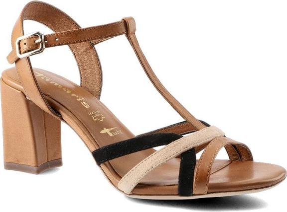 Brązowe sandały Tamaris z klamrami