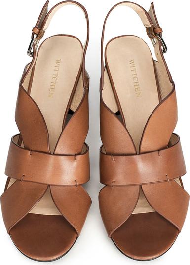 Brązowe sandały Wittchen ze skóry