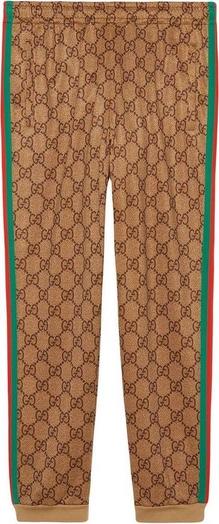 Brązowe spodnie Gucci z bawełny