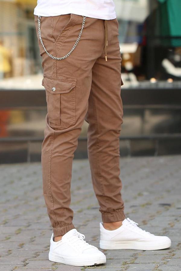 Brązowe spodnie IVET