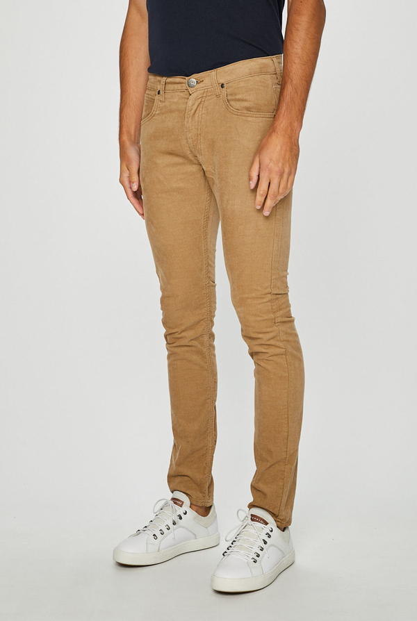 Brązowe spodnie Lee z bawełny