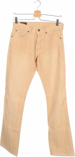 Brązowe spodnie Lee ze sztruksu