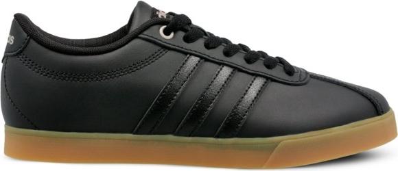 Brązowe trampki Adidas w sportowym stylu z płaską podeszwą
