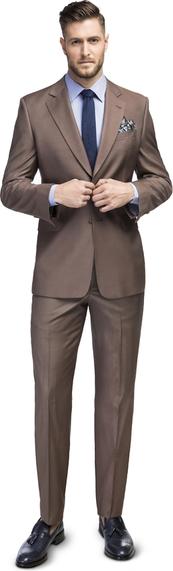 Brązowy garnitur Giacomo Conti
