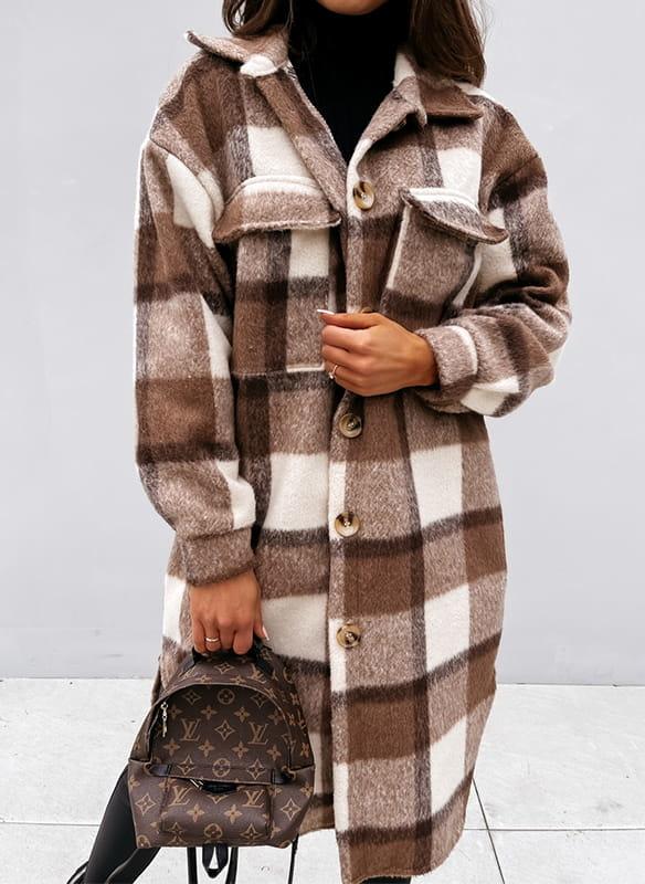 Brązowy płaszcz Cikelly