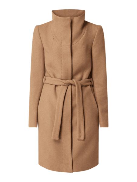 Brązowy płaszcz Drykorn z wełny