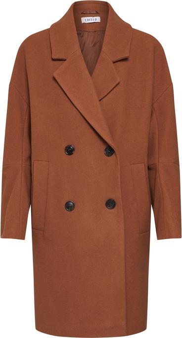 Brązowy płaszcz EDITED z wełny