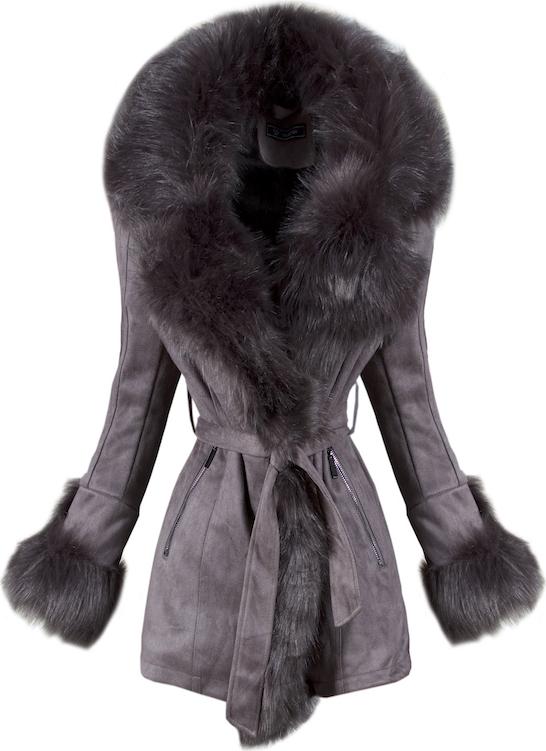 Brązowy płaszcz Elegrina z bawełny