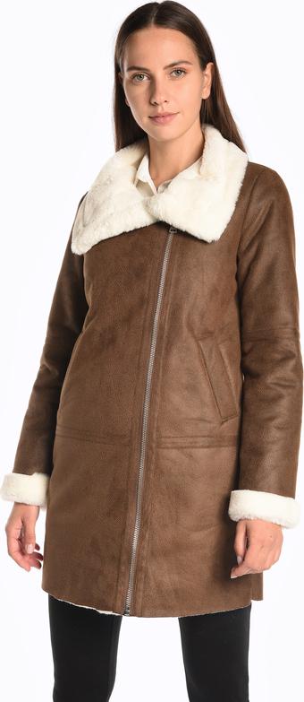Brązowy płaszcz Gate w stylu casual