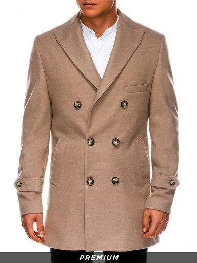 Brązowy płaszcz męski Ombre